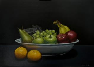 """Fruity"" oil on plywood 60 x 45cm"