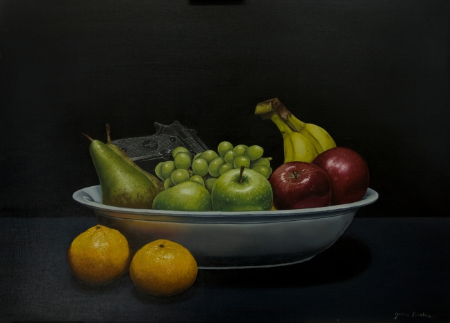 """Fruity""  oil on plywood 60 x 45cm"