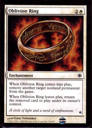 Mtg: 4 oblivion ring from various sets